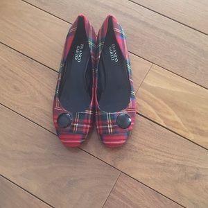 Franco Sarto plaid heels